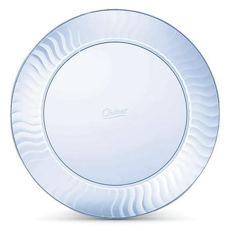 Chinet Cut Crystal Plastic Plates, 10\