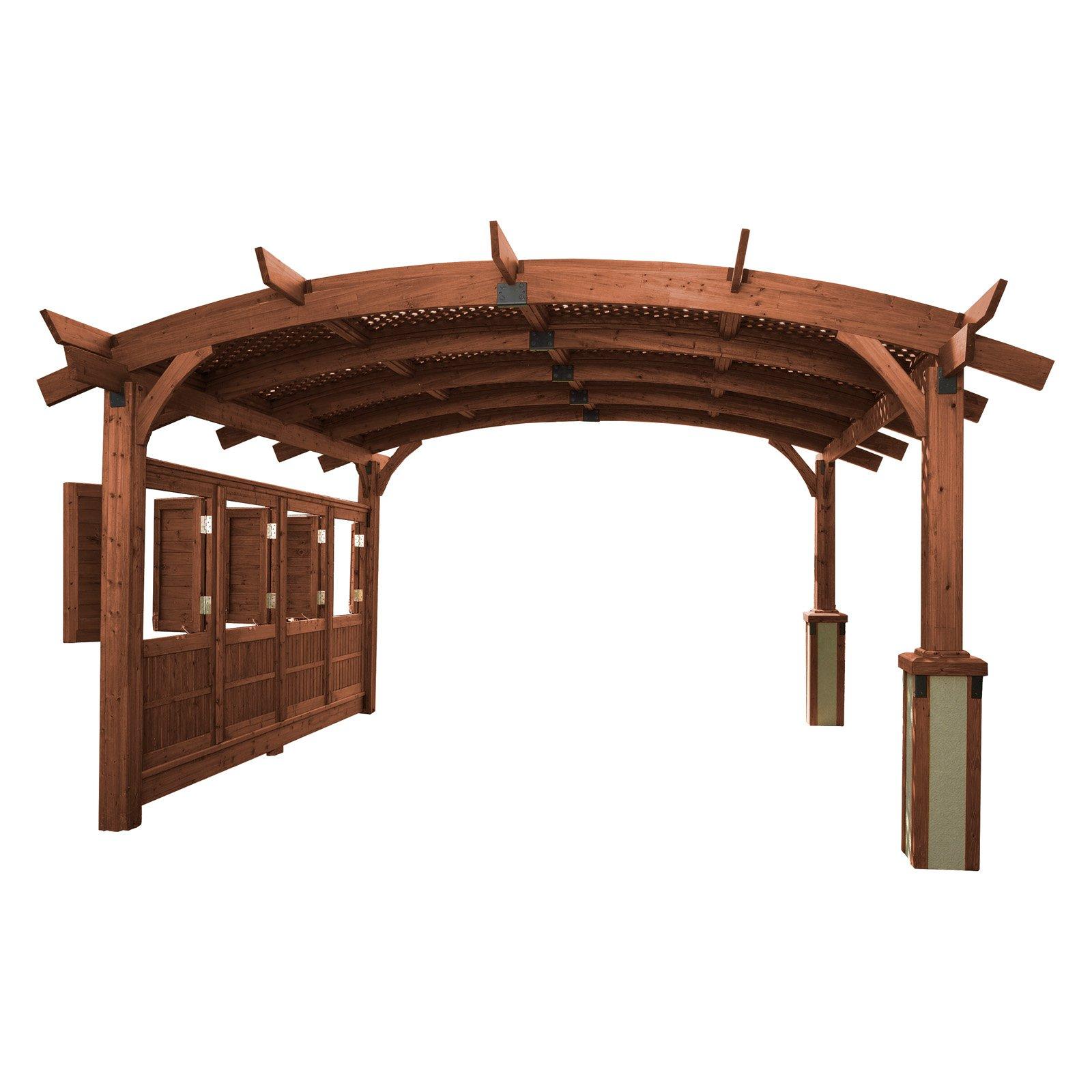 Sonoma Arched Wood Pergola - 16 x 16 ft.