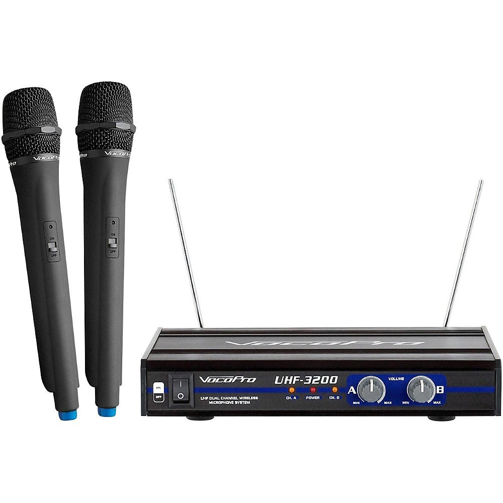 VocoPro UHF-Dual Channel Wireless Microphone System