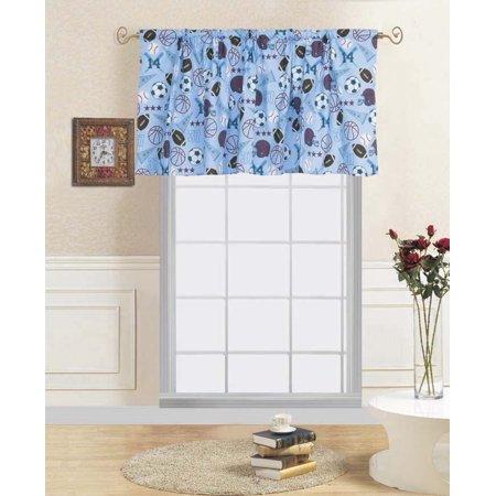 1 Pc Mvp Kids Straight Rod Pocket Window Curtain Valance