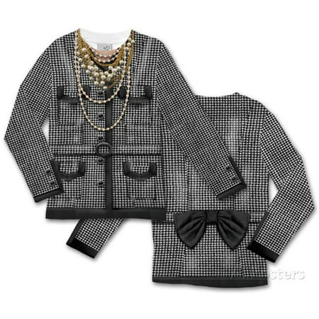 Long Sleeve Tee Faux Real Toddler Houndstooth Jacket - 4 Tall - image 1 of 1