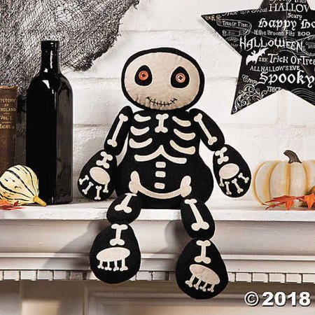 Plush Skeleton Shelf Sitter Halloween Holiday & Seasonal fall Decor for $<!---->