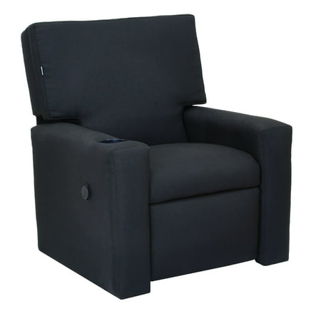 The Crew Furniture 174 Modern Kids Recliner With Usb Charger