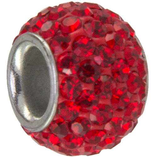 Hallmark Stainless Steel Red Crystal Bead