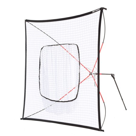 NET PLAYZ Baseball & Softball Practice Hitting Net, Instant Portable, 7FT x 7FT, Pitching, Batting, Fielding, Quick Set-Up, Fold up, Training Equipment. Carry Bag Included