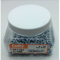 Cully 40110J 8-32 Zinc Plated Hex Nut (100-Pack)
