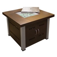 Hiland Fire Pit Hammered Bronze and Stainless Steel Finish