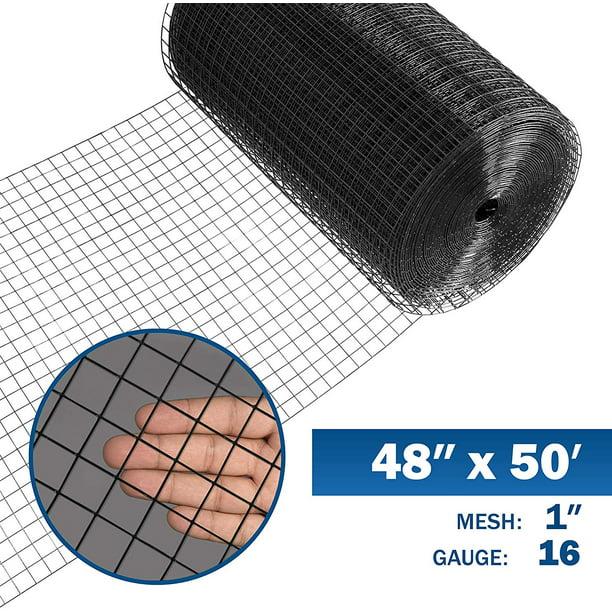 Fencer Wire 16 Gauge Black Vinyl Coated Welded Wire Mesh Size 1 Inch By 1 Inch 4 Ft X 50 Ft Walmart Com Walmart Com