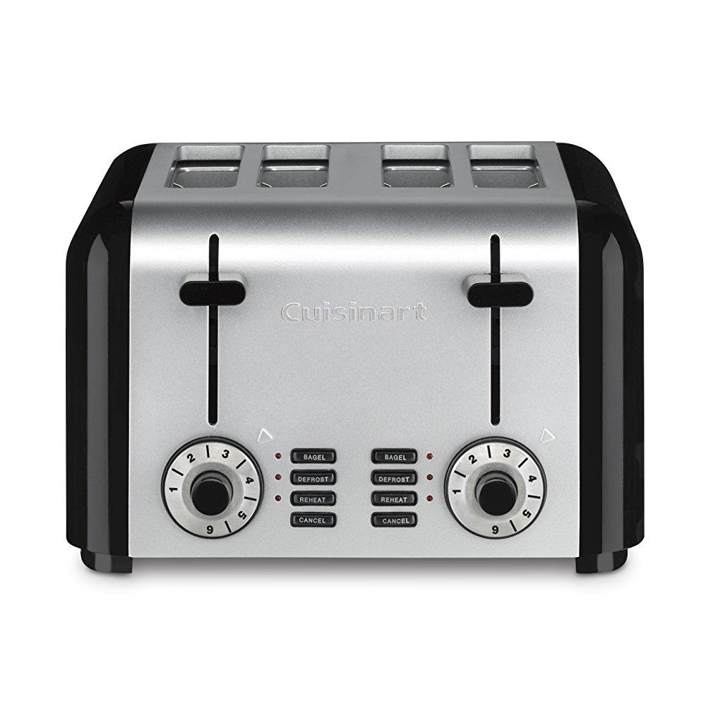 cuisinart cpt-340 compact stainless 4-slice toaster, brushed stainless