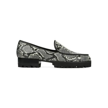 Elen Snake-Print Leather Platform Loafers Donald J Pliner High Heel Pumps