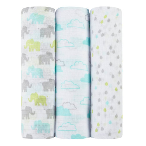 Ideal Baby by the makers of Aden + Anais 3pk Muslin Swaddles, Tall Tale