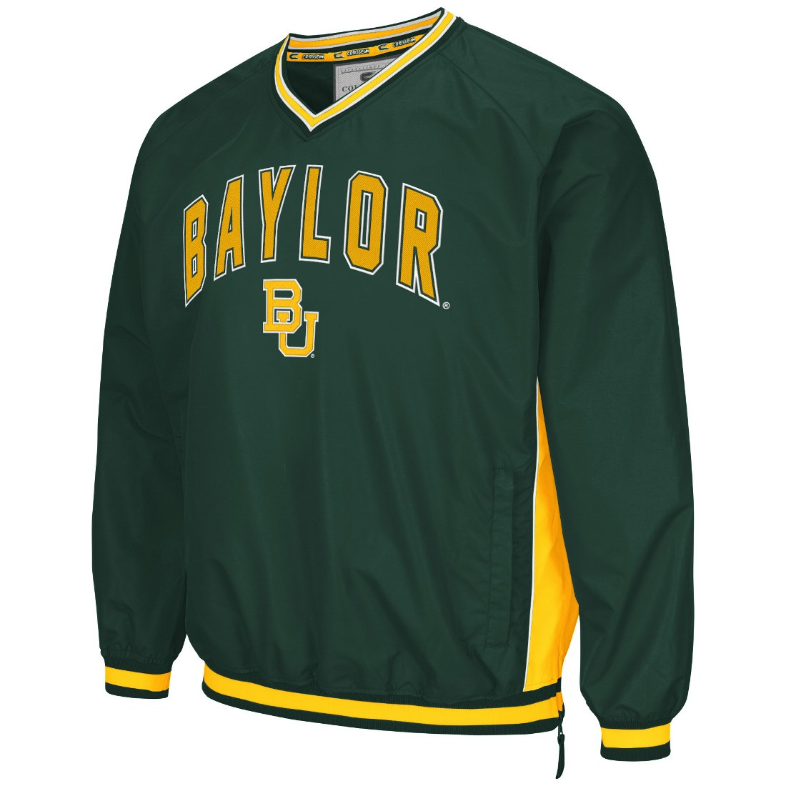 "Baylor Bears NCAA ""Fair Catch"" Pullover Men's Jacket Green by Colosseum"