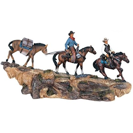 StealStreet SS-G-11368, Western Collection Pack String Riders Cowboy Decoration Figurine Decor