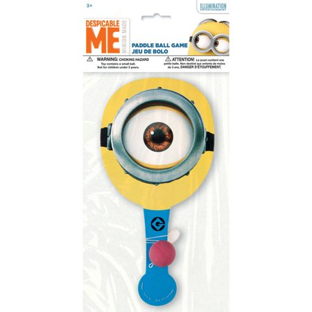 Despicable Me Minions Paddle Ball Game, 1ct](beach paddle ball game)