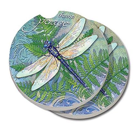 Conimar counterart absorbent stone car coaster dragonfly - Stone absorbent coasters ...