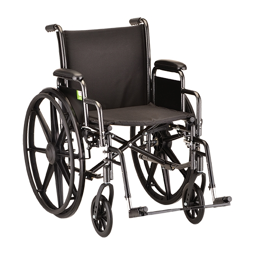 16 Inch Steel Wheelchair with Detachable Arms & Footrests - 1 Each / Each - 5160S