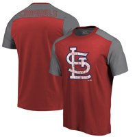 St. Louis Cardinals Majestic Threads Color Blocked T-Shirt - Red/Gray