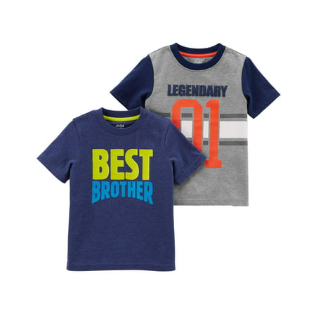 Toddler Boy Short SleeveT-Shirts, 2-pack](Clearance Toddler Boy Clothes)