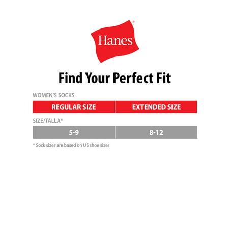 Hanes Women's Comfort Fit No Show Socks, 6 Pack