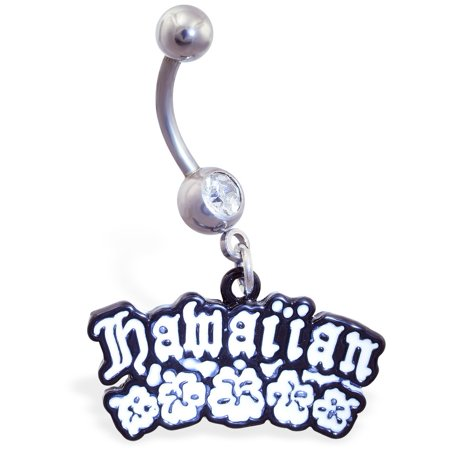 (Belly Ring With Dangling