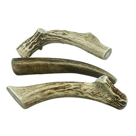 WhiteTail Naturals Brand -3 Pack- Deer Antler Dog Chews Medium 5' (Buy Deer Antlers)