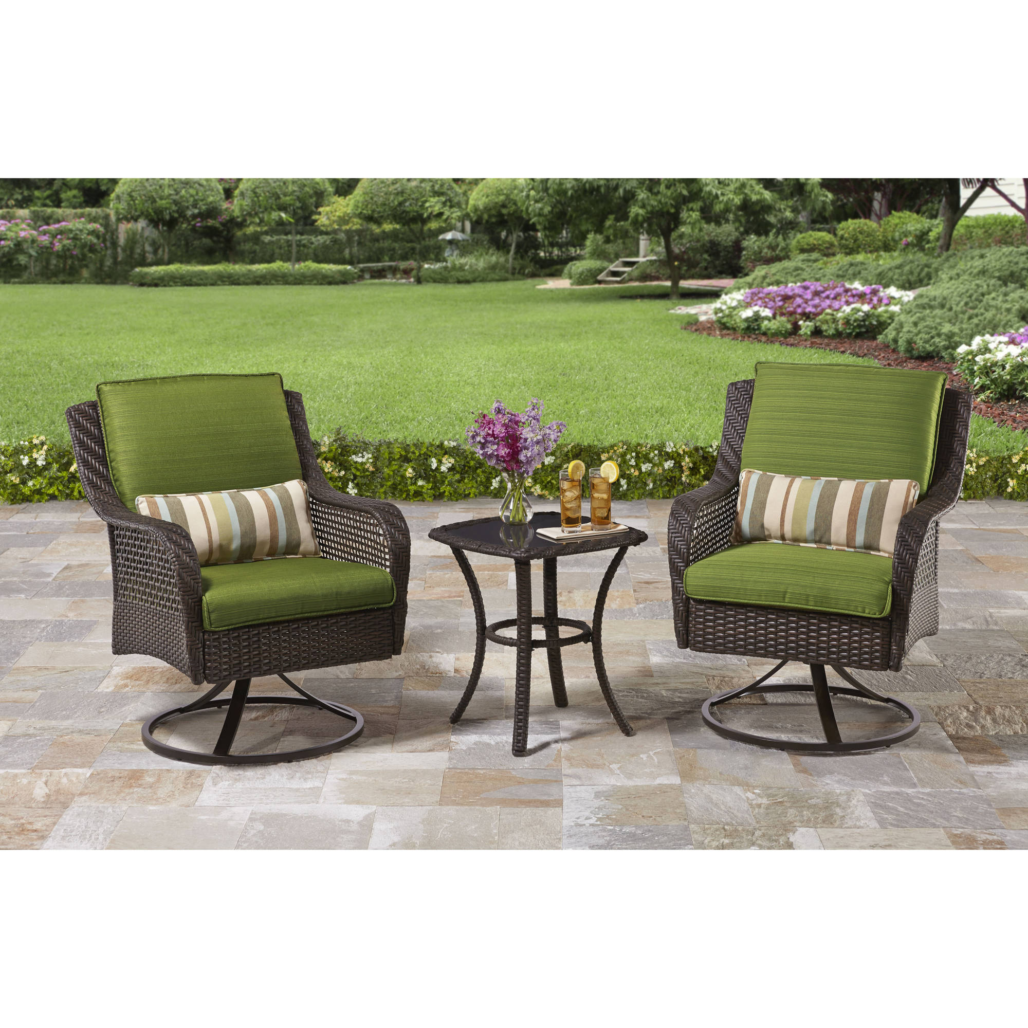 Better Homes and Gardens Amelia Cove 3-Piece Outdoor Bistro Set, Seats 2 by
