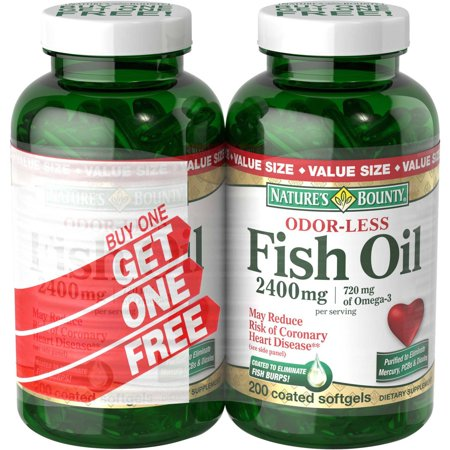 Upc 074312314995 nature 39 s bounty odorless fish oil 1200 for Does fish oil make you smell