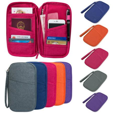 ff61420b2ce7 Asewin - Travel Passport Credit ID Card Cash Organizer Holder Wallet ...