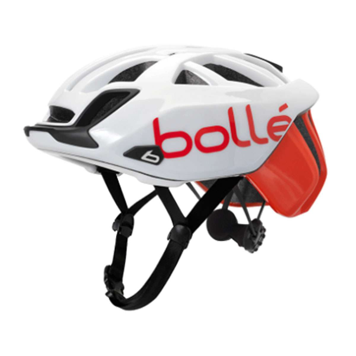 Bolle Adult The One Base Road Cycling Helmet - White/Red