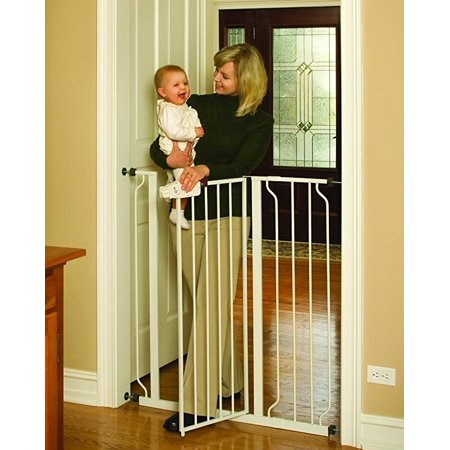 Regalo Easy Step 41-Inch Extra Tall Walk Through Baby Gate, Pressure Mount with Included Extension Kit
