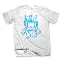 Transformers Optimus Prime Men's White T-Shirt | L