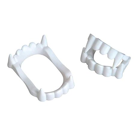 White Vampire Fangs, Plastic Teeth, Costume Accessory Party Favors - 144 PACK](Teeth Fangs)
