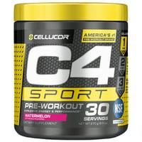 Cellucor C4 Sport Pre Workout Powder, Watermelon, 30 Servings