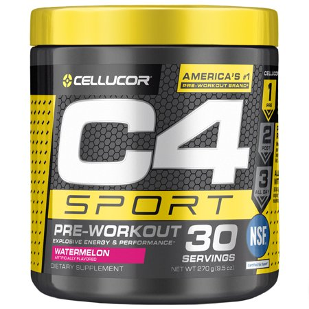 Cellucor C4 Sport Pre Workout Powder, Energy Drink with Creatine Monohydrate & Beta Alanine, Watermelon, 30 Servings](c4 pre workout cheapest price)
