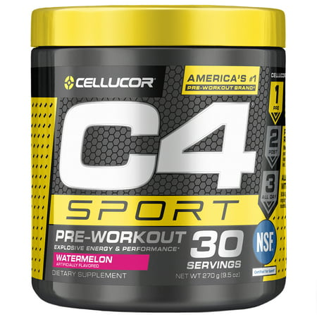 Cellucor C4 Sport Pre Workout Powder, Energy Drink with Creatine Monohydrate & Beta Alanine, Watermelon, 30