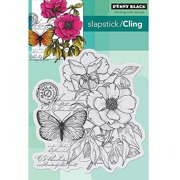 """Penny Black Cling Rubber Stamp, 4"""" x 5.25"""" Sheet, Botanical Notes"""