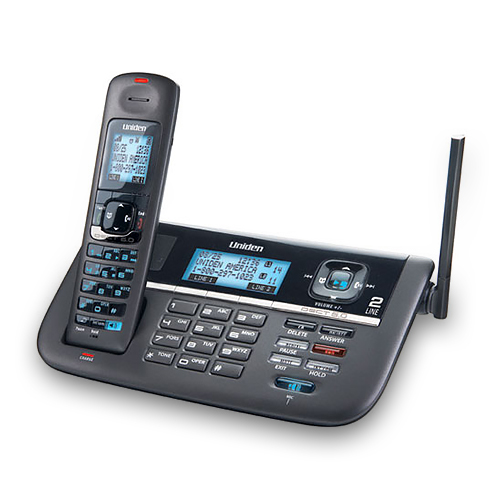 Uniden DECT4086 2-Line Cordless Phone with Blue Backlit LCD Display