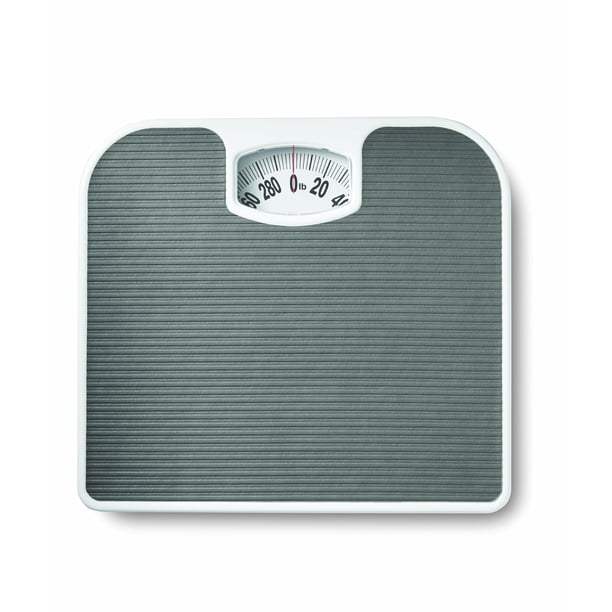 Mainstays Analog Bathroom Scale, Dial Body Scale, White ...