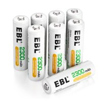 EBL 8-Pack AA Battery 2300mAh Ni-MH Rechargeable Batteries