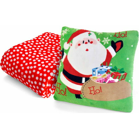 Holiday Pillow Throw Combo, Santa - Walmart.com