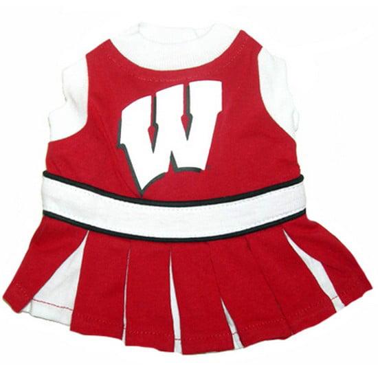 Image of NCAA 301-36 Wisconsin Badgers Pet (Dog) Cheer Leading - Size Medium