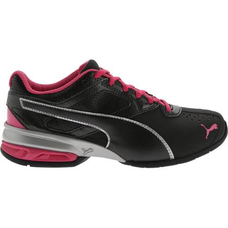 b543d4355e3 puma women's tazon 6 wn's fm cross-trainer shoe, puma black/ puma silver/  beetroot purple, 8.5 m us