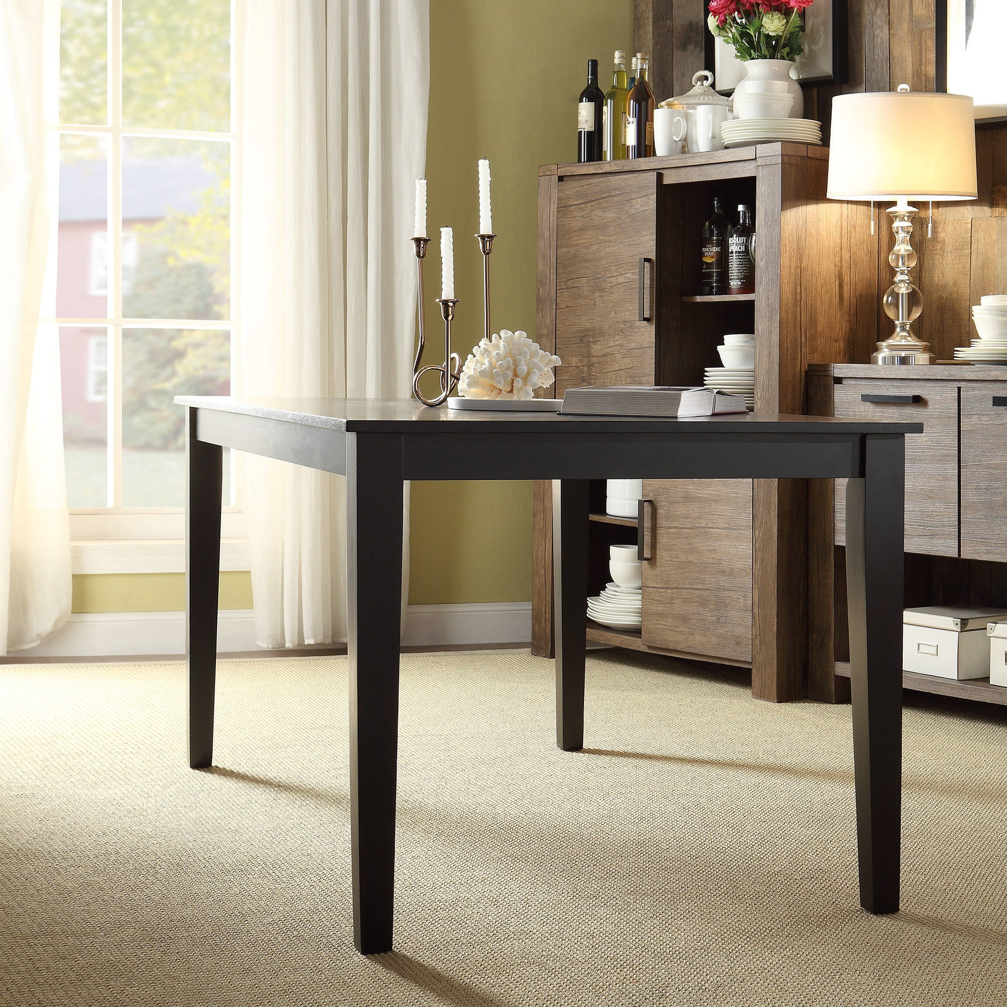 lexington large dining table, black - walmart