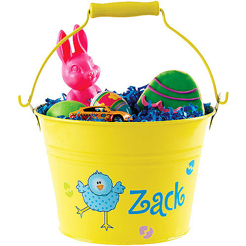 Personalized Easter Pail, Yellow