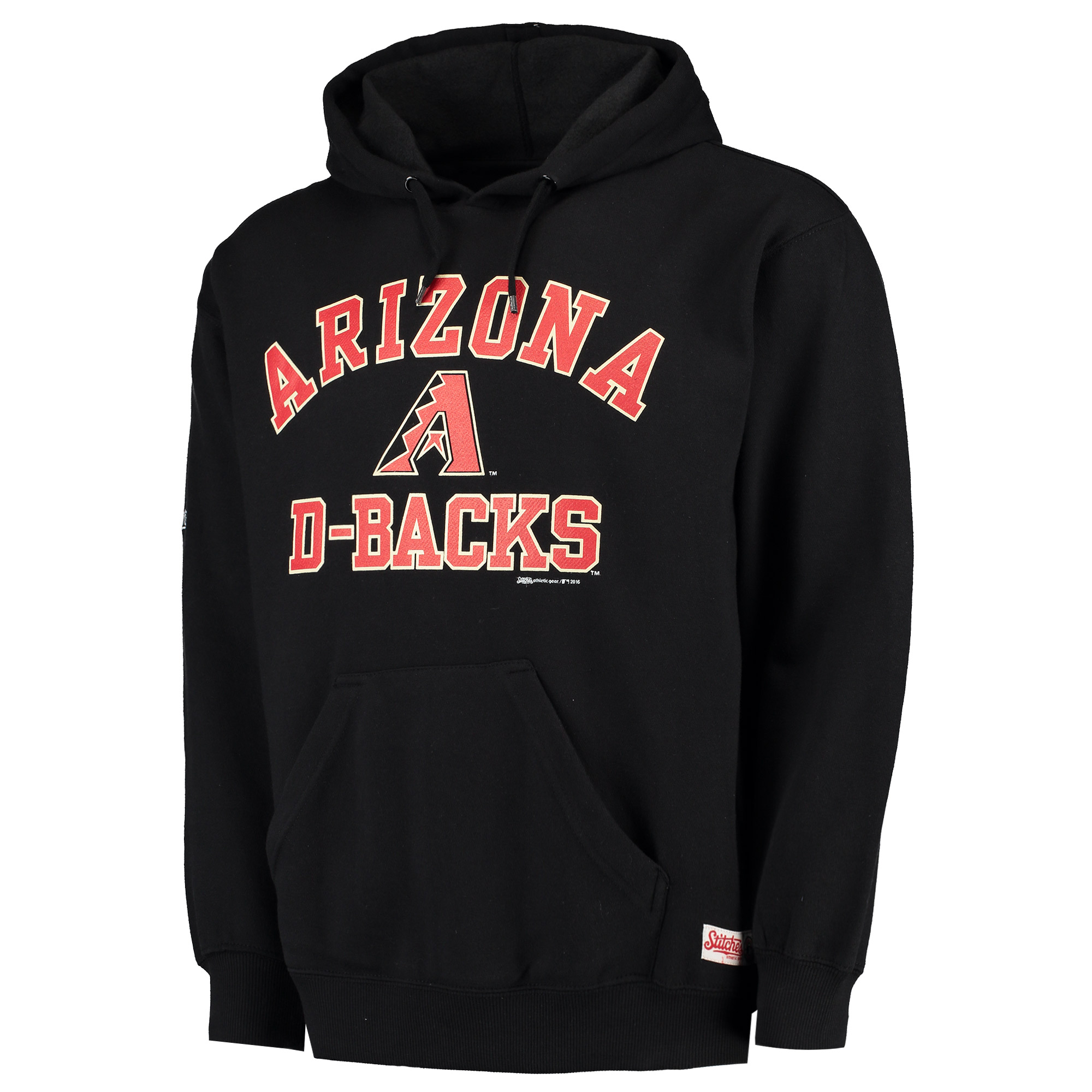 Arizona Diamondbacks Stitches Fastball Pullover Hoodie - Black