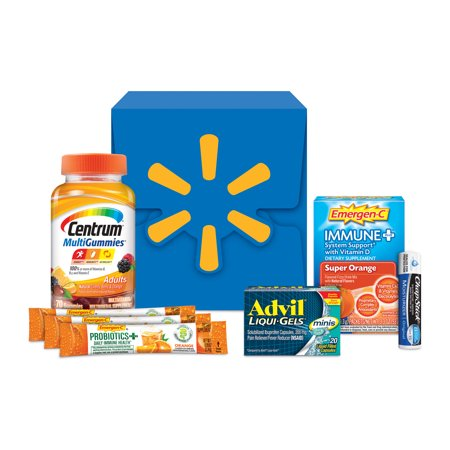 Exclusive Walmart Wellness Kit Over 30 Value Includes Centrum Advil Emergen