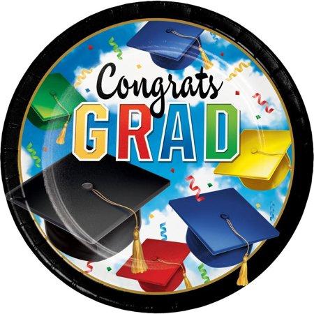 Creative Converting Graduation Celebration Paper Plates, 8 ct](Graduation Plates)