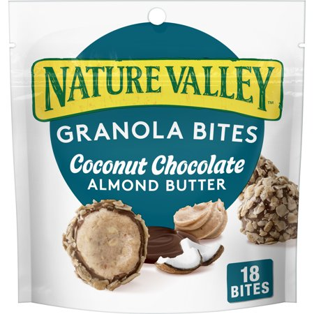 Nature Valley Almond Butter Granola Bites Toasted Coconut Chocolate