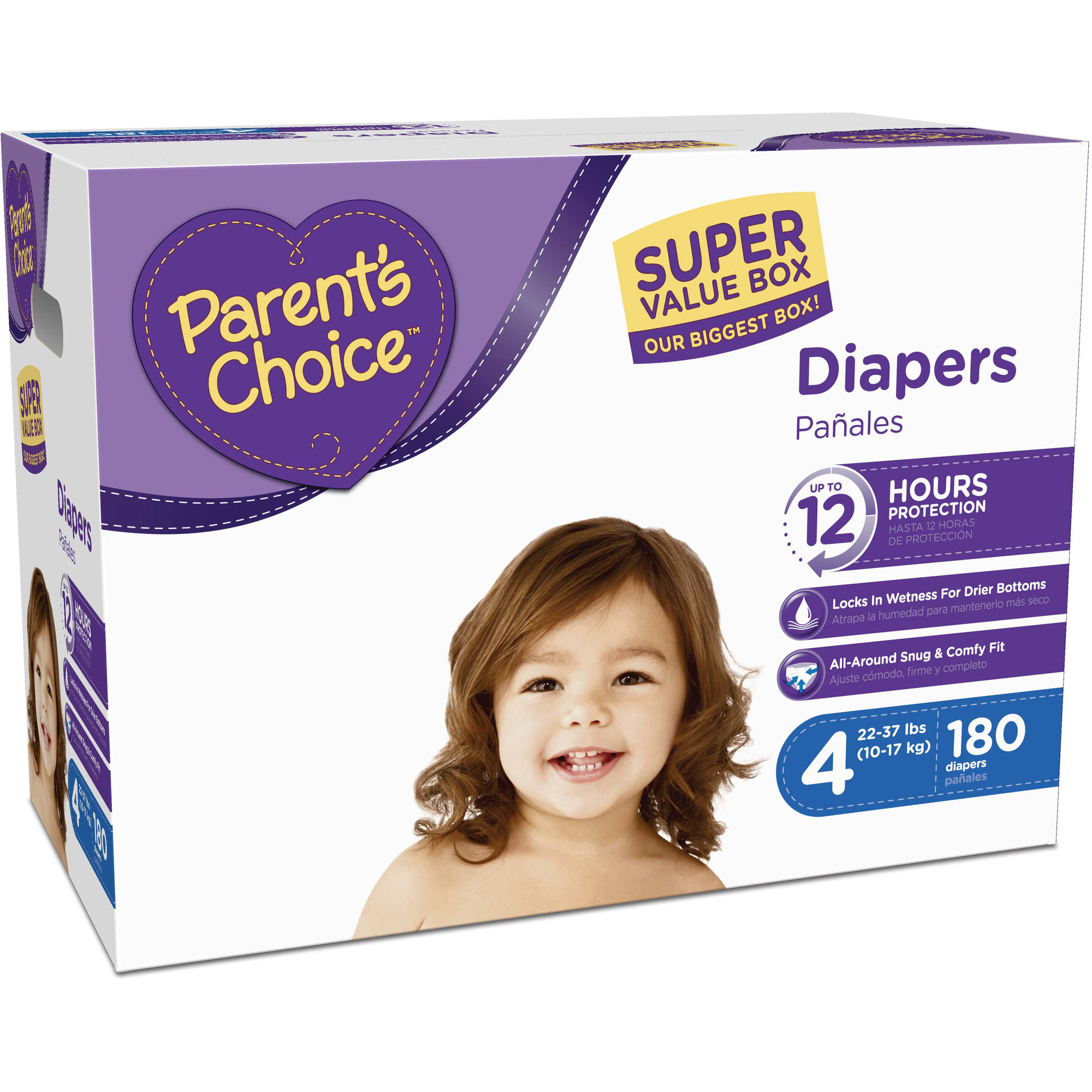 Parent's Choice Super Value Box Diapers, (Choose Your Size)