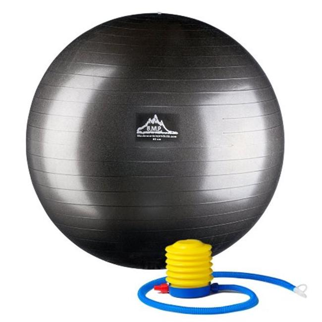 Black Mountain Products PSBLK 65CM 65 cm.  Professional Grade Exercise Stability Ball, Black